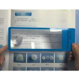 Lupa de quadrados 6X portátil régua com o marcador Régua Lupa de PVC 187*65mm Hw-803A