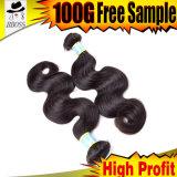 100%Virgin cabelo brasileiro, extensão do cabelo humano