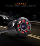 18.5mm Embeded Night Vision Transfers Carpark Vehicle Camera with LED