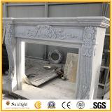 Lareira em mármore branco Lareira Lareira Surround Mantel