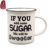 Tazza di caffè di ceramica personalizzata di disegno di lettera 350ml