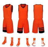 Dernière conception Orange Blanc et noir Maillot de basket-ball de couleur uniforme