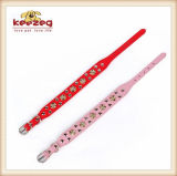 Gold Color Rivet / Real Leather Pet Dog Collars / Leashes (KC0062)