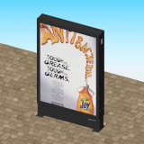 Caixa leve de anúncio lateral de Mupi da rua do dobro de alumínio do perfil