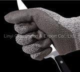 Покрынная PU перчатка работы отрезока упорная с вкладышем 13G Hppe