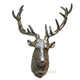 가정 장식 현대 수지 사슴 헤드 벽 커튼 기술