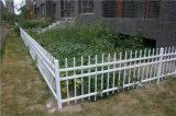 Clôture en acier galvanisée résidentielle de haute qualité personnalisée de blanc de jardin