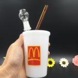 Стеклянный сосуд старбак молока форму курения трубки стекло воды