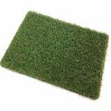 Césped económico plástico del césped ninguna pared artificial del verde de hierba del relleno