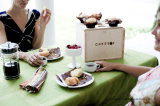 Pastel de madera Caja de madera Caja para Cupcakes