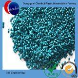 Granule en plastique de Materbatch de couleur verte de la Vierge HDPE/LDPE