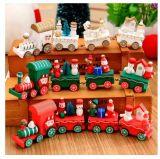 La mini decoración del árbol del tren de Santa de la Navidad embroma el regalo del juguete para el partido del festival de la Navidad