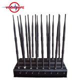 16 antenne allen in Cellulair voor Al 3G 4G, GPS, WiFi, het Systeem van de Stoorzender Lojack, GPS van de Afstandsbediening van de Desktop Blocker van de Telefoon van de Cel van de Stoorzender het Apparaat van de Stoorzender 16 Krachtige Banden