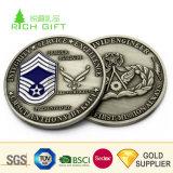 Fabriqué en Chine La conception personnalisée de métal Embpssed en laiton antique en 3D de l'Imitation vieille pièce d'argent pour les concessionnaires