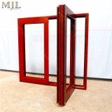 Profil de bois d'aluminium fait sur mesure en verre de fenêtre à battant de pivotement