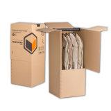 Visor de papel cartão canelado vesti Roupeiro Exibir caixa de embalagem com cabide