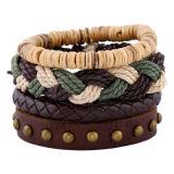 2018 Nuevo Diseño de joyas hombre cordón personalizadas Pulsera de cuero