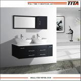 Armário de casa de banho sólidos de madeira/Espelhos Banheiro/bacia Duplo armário de banheiro (T9015B)