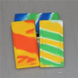 Plazoleta Waxmate SILICONA silicona Contenedor de almacenamiento de tarro de cera de contenedor de silicona cuadrada
