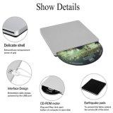 Unidade de CD DVD externo USB leitor gravador para notebook/PC/Mac (Cinza)