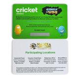 Cartão de raspar impressão personalizada de PVC para prémio/ Lottery/Sorteio/Sorteio/apostas