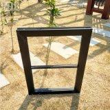 Закаленное стекло пользовательского размера окна из черного алюминия