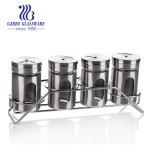 4PCS glas/metaal- Olie-en azijnstelletje voor het Gebruiken van de Keuken (TZ5-GB29019)