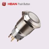 Водонепроницаемый чехол из нержавеющей стали 16мм 19мм светодиод кнопочный переключатель без фиксации с подсветкой