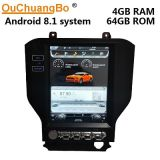 Ouchuangbo Px6 12. Zoll Tesla Art-Autoradio GPS für Ford-Mustang2015-2018 Android 8.1 OS mit Stereomultimedia