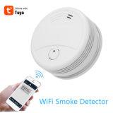 Tuya APPの携帯電話の一酸化炭素のWiFiのスマートなホームセキュリティーネットワーク探知器の火の煙探知器