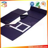 ギフトのペーパー印刷フリップふたの平らな折りたたみ磁気ボックス包装