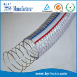 Le ressort en spirale en PVC renforcé de fil en acier flexible d'aspiration de l'eau