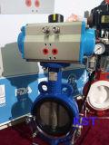 스테인리스 또는 Wcb 또는 알루미늄 압축 공기를 넣은 액추에이터 나비 벨브