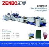 Mango Sheet-Feeding automática de alta velocidad el papel de estraza Bolsa de compras que hace la máquina Zb1260S-450