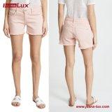 high Waist Cotton Stretch女性の女性方法ボーイフレンドの適当なピンクの着色されたデニムの小型不足分のジーンズJl-CF026
