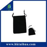 Sacchetto caldo del velluto del nero della casella del sacchetto del sacchetto dei monili di modo con la corda