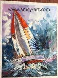 Pittura a olio moderna Handmade della tela di canapa di navigazione per arte della parete