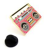 연약한 사기질 Pin 주문 라디오 모양 형식 디자인 접어젖힌 옷깃 핀