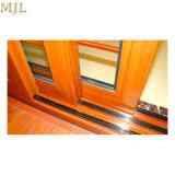 Portelli scorrevoli di alluminio della parte anteriore di vetro di legno moderna di disegno