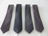 Cor-de-rosa faixa ampla de gravatas de poliéster de tecidos de design