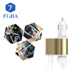 2-tomas de encendedor de coche doble Portavasos USB Cargador de coche