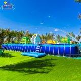 Parc aquatique flottante géant populaire jeu châssis en acier nager Piscine Piscine gonflable pour adultes et enfants
