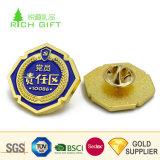 L'esercito del Pakistan di marchio impresso metallo su ordinazione dorato della Cina del fornitore Badges il ferro sull'uniforme
