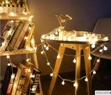 배터리 전원을 사용하는 크리스마스 나무 결혼식 홈 실내 훈장을%s 방수가 1.5m LED 공 끈에 의하여 점화한다