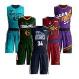 Jfc Team Homme Sportswear fabricant de maillots de basket-ball de sublimation réversible personnalisé