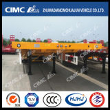 Cimc 80tons CapacityのHuajun 14m重いDuty Flatbed Semi Trailer