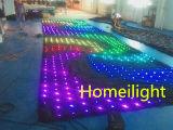 Schermo di visione di colore completo LED di P18 3m*3m, video tenda del LED per la priorità bassa del DJ, cerimonia nuziale, fase,
