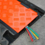 Het oranje & Gele Openlucht 900mm Flexibele Dienblad van de Kabel van Pu Plastic