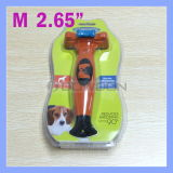 Das 2.65 Zoll-orange Haustier-Kamm-verfolgt langes kurzes Haar-Abbau Deshedding Hilfsmittel für Medium 21 - 50 lbs