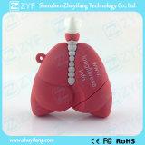 Movimentação humana feita sob encomenda do flash do USB da forma do pulmão com logotipo (ZYF5048)